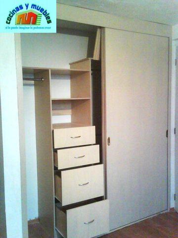 Closets economico en melamina llama al 42119803 www for Closet grandes y baratos